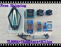Free shipping V6.0 Russian Manual TL866A+2clips+SOP8/28+PLCC32/44+SOP8&16 USB Universal Bios programmer ICSP FLASH\EEPROM TSOP