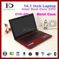 KINGDEL 14 inch Laptop Computer with Intel N2600 Dual Core 1.6Ghz, 2GB RAM+320GB HDD, DVD-RW, Webcam, 1080P HDMI, Bluetooth