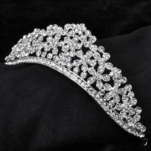 تيجان  فاخرة مرصعة بالماس Free-shipping-flower-font-b-bridal-b-font-crown-wedding-font-b-tiara-b-font-font