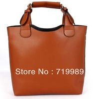 2013 Free shipping PU Vintage Leather shoulder bags women michael handbags designers brand bags