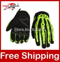 Motocross Gloves Racing Gloves Motorcycle Motorbike Pro-biker Full Finger Green/White/Blue/Orange CE-04 Free Shipping