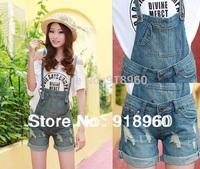 big Size XXXL Women's short Overalls Jeans Gallus Shorts/Ladies' Denim Jumpsuits/Female suspenders/waist 82cm short Trousers/WtQ