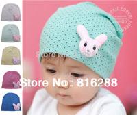 Baby Cap Dot Print Spring Beanie Hats Caps For Baby Girl Boy Infant Rabbit Caps