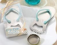 Free shipping 30set wedding favor--Pop the Top Flip-Flop Bottle Opener Favors