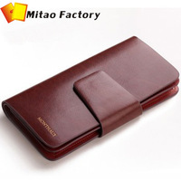 2013 Fashion 3 Fold Long Luxury Leather Men Wallet Brand Cow Skin Handbag Business Men Wallets Purse With 24 Card & ID Holders