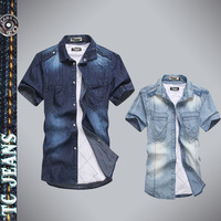[TC Jeans] 2013 free shipping men jeans shirts hot selling Washed denim shirts for men New arrival Men clothing