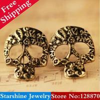 Min Order $5 Mix PL46005 new arrival 2014 cutout punk skull earring