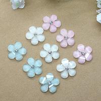 resin kawaii cute shine rhinestone flower flat back cabochon 15mm 50pcs Free shipping