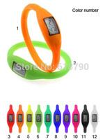 Wholesale Geek Catch LED Watch, Silicon watch Fashion sports watch Anion watch Free shipping 120Pcs/Lot