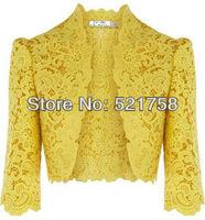Women's Cutout Elaborate cotton Lace Embroidered Cardigan bolero jacket Lace Embroidered Bolero Jacket Coat Cardigan