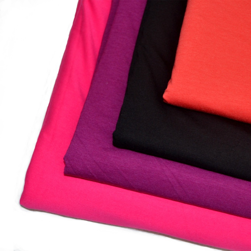 Eco-friendly Bamboo/cotton/spandex blended jersey fabric for sports wear/baby wear in stock(China (Mainland))