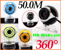 USB 50.0M HD Webcam Camera Web Cam With Mic for Desktop PC Laptop Computer free shipping