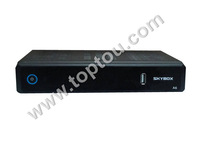 Free Shipping Original skybox A6 super than openbox x5 HD full 1080p satellite receiver