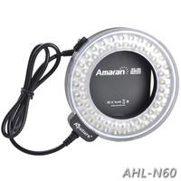 Aputure AHL-N60 Amaran Halo 60 LED Marco Led Ring Flash For Nikon D7100 D7000 D5200 D5100 D800 D800E D700 D3200 DLSR Cameras
