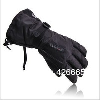 man Winter Ski sport waterproof gloves double gloves black -30 degree warm riding gloves snowboard Motorcycle gloves