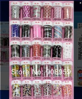 Free shipping 100*4cm (56pcs/lot 56designs)  2014 new arrival fashionable nail art Transfer foil sticker supplies