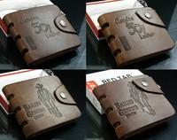 New Cool Men's Genuine Leather Bifold Wallet Multi Pocket Credit Card Purse