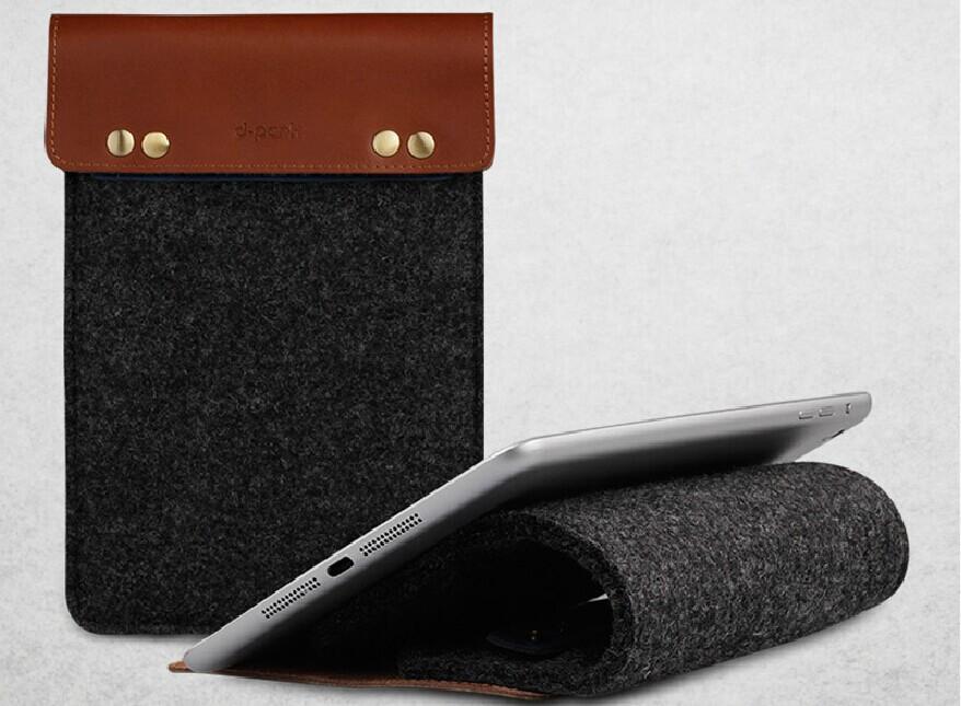d-park Simple Style Wool Felt sleeve Case For iPad mini 2 Sleeve For 8' Tablet(China (Mainland))