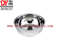 22cm mirror polished stainless steel mixing bowl