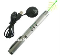 free shipping 532nm   green laser pointer pen Wireless presenter