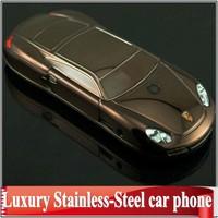 2014 new Luxury metal Original mini cell phone F977 977 911 Car Stainless-Steel mobile Unlocked dual sim cards Russian keyboard