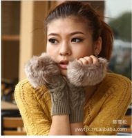 Ms 2014 autumn winter gloves imitation fur gloves wool gloves touchscreen gloves sell like hot cakes