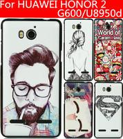 HUAWEI HONOR 2 case Huawei Ascend G600 case 23 species pattern black side case for U8950D  U9508 T8950D cover