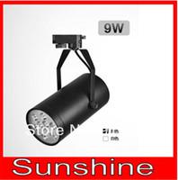 9*1W 9W led Track lights ,High Strength Aluminum shell,AC 90-265V DC12V CE Rohs, Bright Led Spot Lights For Shop Home ,2pcs/lot