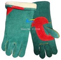 Work Gloves Warm Winter Welder Glove Comfoflex Blue Split Cowhide Leather Welding Gloves