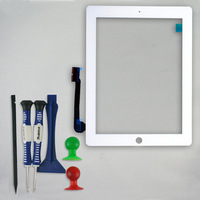 Touch Screen for iPad 3 Digitizer white or black color + open tools  Free Shipping
