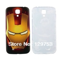 Super Iron man Pattern Plastic Battery Cover For Samsung Galaxy S4 S IV i9500 / i9505, free shipping