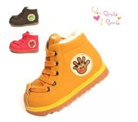 2015 new Kids Children's baby Boys and Girls winter boots 0-3 years old thick cotton-padded shoes winter boots 080