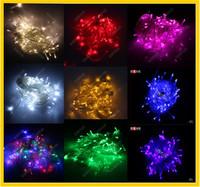 2pcs Multicolour led string light christmas lights AC220v 8M 52LED for Christmas Party Wedding full Colors Free Shipping