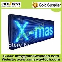 "FedEx FREE shipping, outdoor led scrolling display, billboard with blue color and size 15.7""*40.9"""