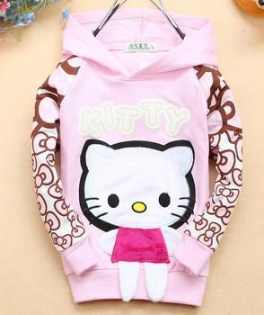 Fashion hoodies children's clothing cotton girl's hellow kitty Sweatshirts kid's hoodies girls clothing  CT38 4pcs/lot