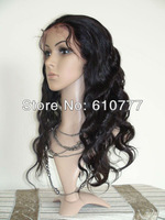 "Front lace wig Body wave 10"" to 28"" human hair extension free shipping"