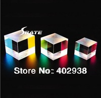 4 pcs/lot 2.2X2.2X2.2cm Defective Glass Optical Cube-corner Prisms for reading student education and early learning