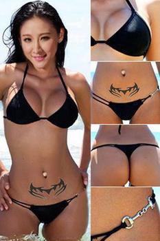 3 Colors ! Sexy Bathing Suit Fashion steel buckle bikini Swimwear With Brazilian Bottom Bikini Set Sexy black Swimsuit 16001-5