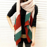 Autumn and winter thickened super long warm knitting wool scarf  JH289