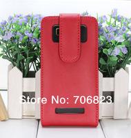 20pcs for HTC Desire 400 dual sim  Vertical flip Genuine Leather case +20pcs screen protectors