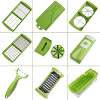 Fruit & Vegetable Nicer Dicer Plus Slicer Cutter Chopper Chop Potato Peelers best Kitchen helper Peelers Set of 12 kitchen tools