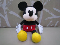 """12"""" stuffed mickey mouse 30cm plush mickey mouse  plush mickey kids toy mouse toys kids doll one piece  free shipping"""