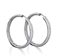 Free shipping Round Earrings Luxury engagement Platinum Plated AAA Cubic Zircon Micro Pave Setting Party Lead Free
