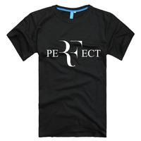 Roger Federer perfect logo t-shirt 100% combed cotton RF Tennis New men short sleeve loose t shirt high quality