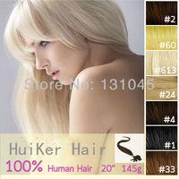"multicolor  color U-shape pre-bonded 100% brazilian human straight  hair extension /'1g/strand 50strand/pack /18""-28""4 packs/lot"