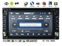 6.2'' 2 Din Universal Car Stereo,Android 4.0+3G+WIFI+Bluetooth+Video+Radio+TV+DVD+GPS,6.2'' Auto Multimedia(Free 3G,WIFI Dongle)
