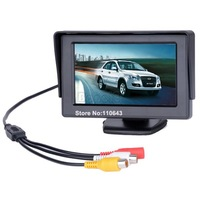 "4.3"" TFT LCD Auto Car Monitor Reverse rearview Color camera DVD VCR CCTV B14 1397"