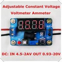 DC-DC Ammeter Voltmeter Constant voltage Adjustable Step-Down Supply Power Module buck converter led display :Red [3 pcs/lot]