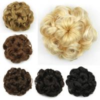 5 colors, Bun Hair Chignon, Synthetic Donut Roller Hairpieces, Hair bun, 1pc