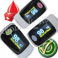 2013-wholesale FDA CE finger pulse oximeter SPO2 PR monitor OLED display 4 color waveform  setting alarm YK1008